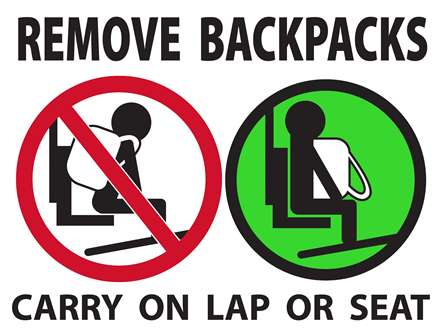 Remove Backpack Sign